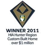 Winner 2011 HIA-CSR Hunter Housing Awards: Custom Built Home Over $1 Million