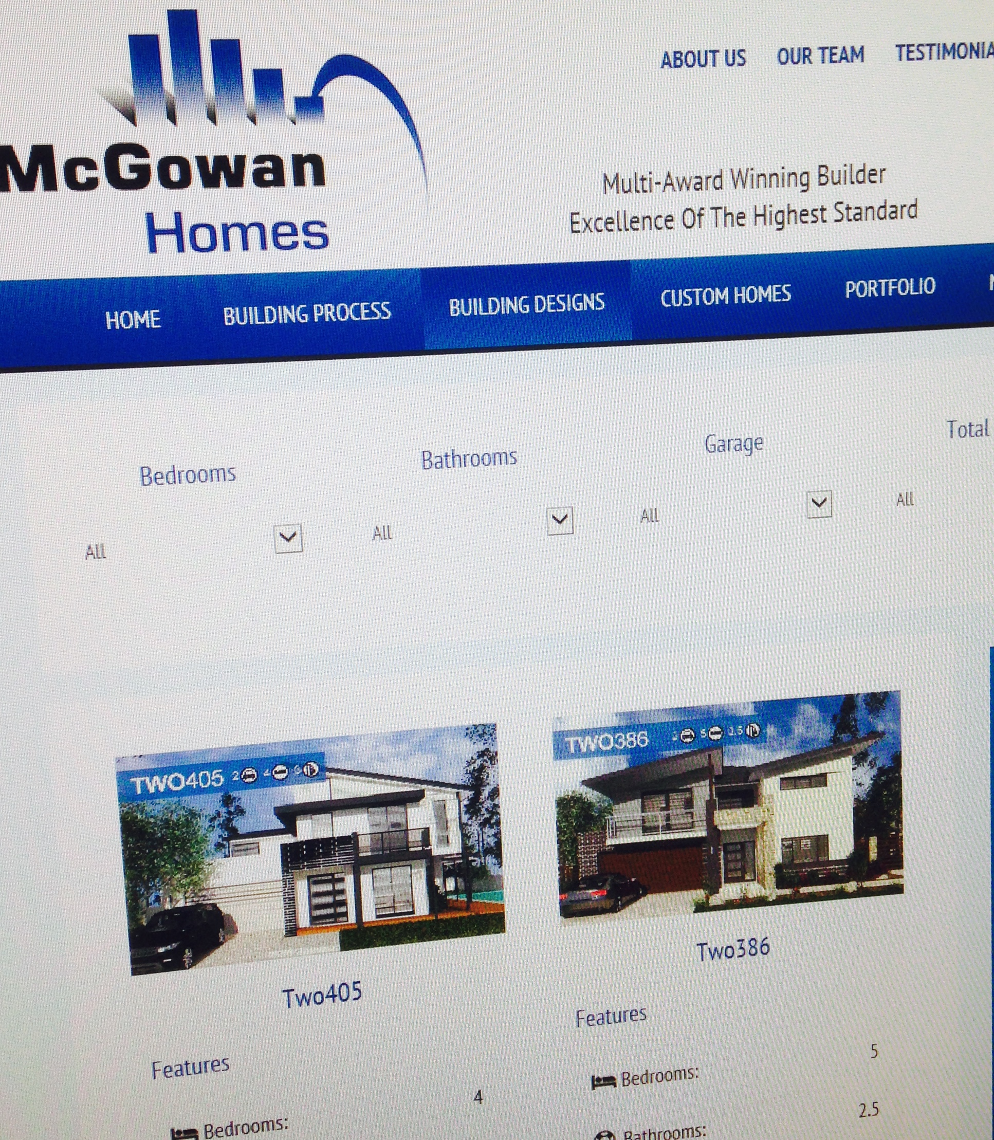 Updated New Home Designs