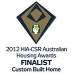 Finalist 2012 HIA-CSR Australian Housing Awards Custom Built Home of the Year