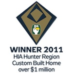 Winner 2011 HIA-CSR Hunter Housing Awards Custom Built Home Over 1 Million