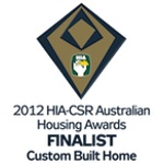 Finalist 2012 HIA-CSR Australian Housing Awards: Custom Built Home of the Year