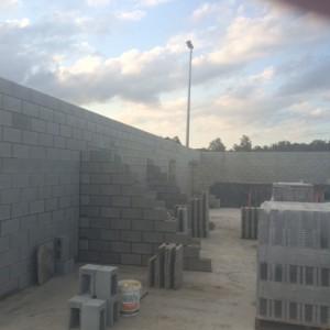 Brickwork progressing